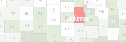 Dickinson County Map