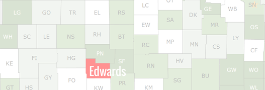 Edwards County Map