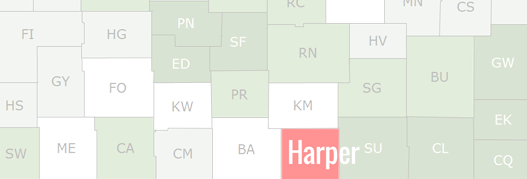 Harper County Map