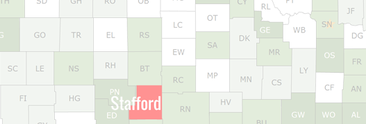 Stafford County Map